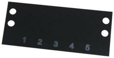 2 X Cinch-Ms-5-140-Terminal Block Marker, 1 To 5, 9.53Mm