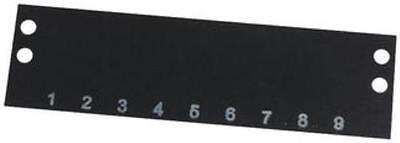 2 X Cinch-Ms-9-140-Terminal Block Marker, 1 To 9, 9.53Mm