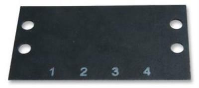 2 X Cinch-Ms-4-141-Terminal Block Marker, 1 To 4, 11.13Mm
