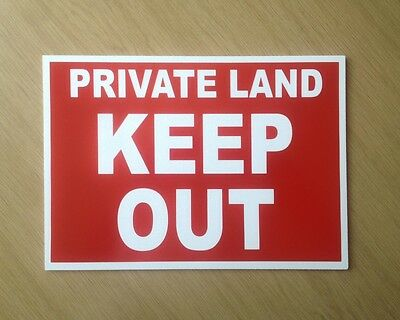 Private Land Please Keep Out Sign.   Ideal for Farm.  (BL-66)