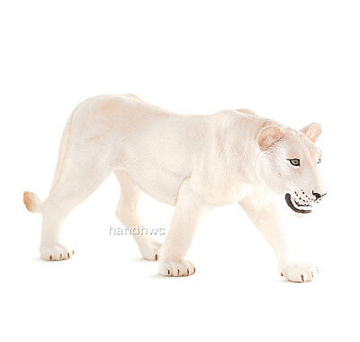 Mojo Fun 387207 White Lioness Realistic Wild Animal Toy Female Lion Replica NIP