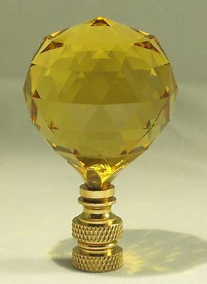 Lamp Finial-Stunning Leaded Crystal Lamp Finial-Golden Topaz
