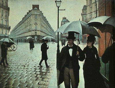 Huge oil painting Gustave Caillebotte - Paris Street- Rainy Weather portraits