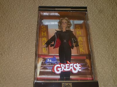 GREASE Sandy Black Leather 25th Anniversary Barbie Doll Olivia Newton John.