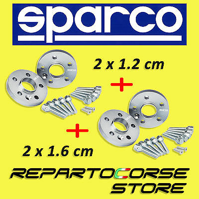 SPARCO WHEEL SPACERS KIT (2 x 12mm + 2 x 16mm) WITH BOLTS - BMW E34 - 524 tds