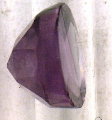 Antique Vintage Gen. Round Amethyst Top Faceted Flat Bottom Rose Cut  Stone N102
