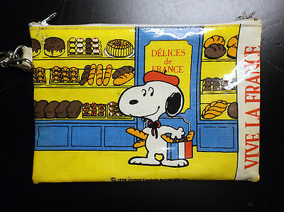 Ancien plumier trousse Snoopy Vive la France 1958