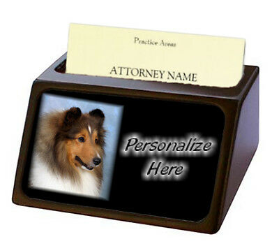 Shetland Sheepdog   ( 3 )  Pet Breed  Personalized Business Card Holder