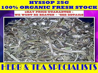HYSSOP  25G☆TEA 100% ORGANIC Hyssopus officinalis☆HERBAL☆RELAX☆CALM☆HEALTH☆SAVE!