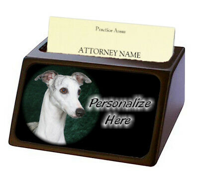 Whippet  ( 3 )  Pet Breed  Personalized Business Card Holder