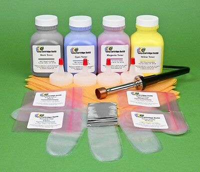 HP Pro 200 MFP M276n M276nw Four Color Toner Refill Kit with Hole-Making Tool