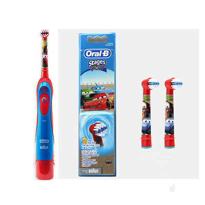 Oral-B Kids DB4510K Stages Power Electric Toothbrush 1ea & Repacement Heads 2ea