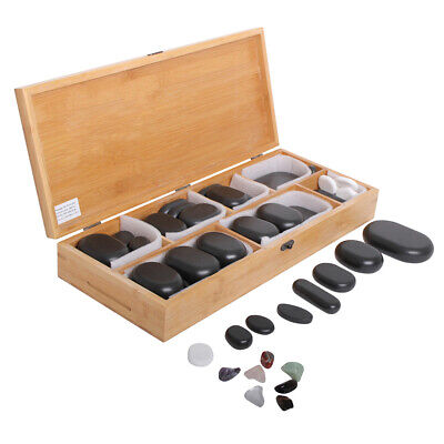 64 Pierres Chaudes hot stone cosmetique massage pierres - Promafit