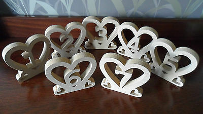 Freestanding Wooden Table Numbers  Balloon Weights - Wedding - Craft - MDF