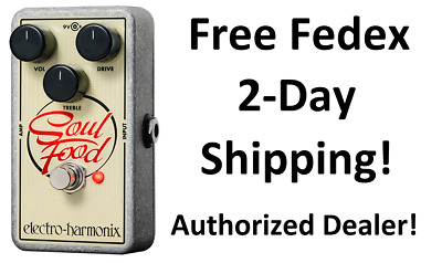 New Electro-Harmonix EHX Soul Food Distortion Fuzz Overdrive Effects Pedal!