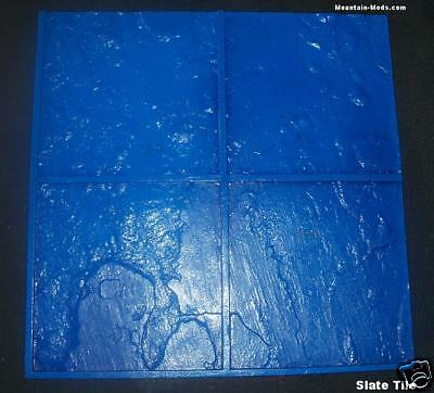 Italian Slate Tile Decorative Concrete Cement Imprint Stamp Mat Floppy 24x24 NEW