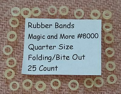 Rubber Bands for Magic Bite Out & Folding Quarters, Lot of 25 (8000)