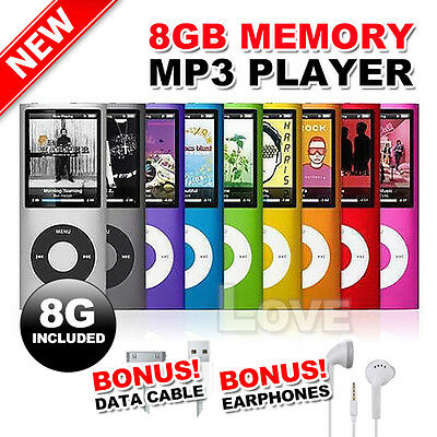 "OZ E 8GB 1.8"" LCD MP3 MP4 Music Media FM Radio Player Video 4th USB 2.0"