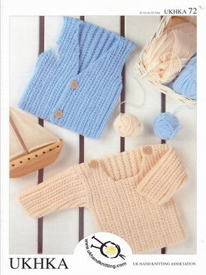 Baby DK Double Knitting Pattern Childrens Boys Waistcoat Sweater Jumper UKHKA 72