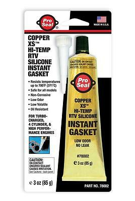 Copper XS RTV Silicone Instant Gasket Sealant Dressing Glue Hi Temp Pro Seal 85g