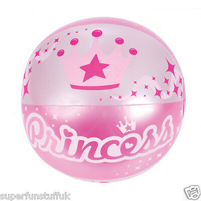 16 INCH INFLATABLE BLOW UP NOVELTY PRINCESS GIRLS BEACH BALL THEMED PARTY TOY