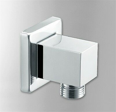 Brass Hose Connection Square Chrome Wall Union Elbow Outlet for Concealed Shower