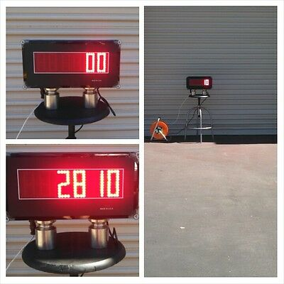 "Scale Indicator Scoreboard - Super Bright Display - 3"" Tall Led Digits - Ntep"