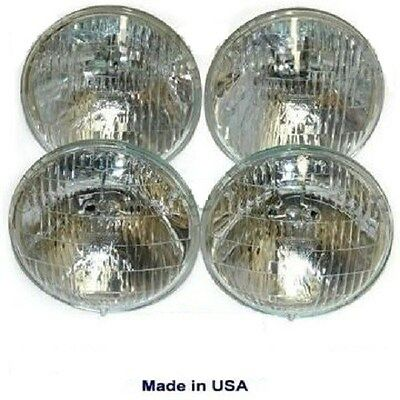 1968-1971 GM Cars T-3 / T3 Headlamp / Light Set of 4 bulbs   68-71   guide bulb