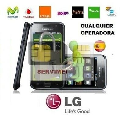 Liberar Cualquier Lg Vodafone,movistar,orange,yoigo L3 L5 L7 L9 E400 Optimus 3D