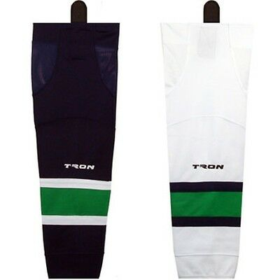 """Vancouver Canucks Hockey Socks Dry Fit Edge Inspired Colors  24"""" or 30""""  SK300"""