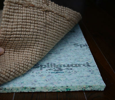 """Spillguard Resistant Rug Pad 1/2"""" Thick Rebond - Multiple RECTANGLE SIZES"""