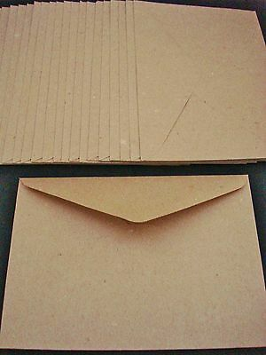 20 Kraft C6 Envelopes Brown Recycled Craft Card Making Cardmaking FREE POSTAGE