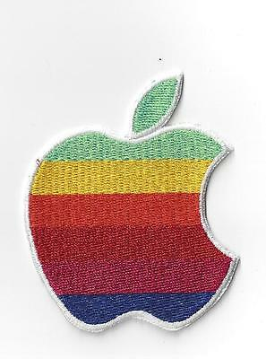 3 inch APPLE COMPUTER LOGO IRON ON  PATCH BUY 2 GET 1 FREE = 3 OF THESE