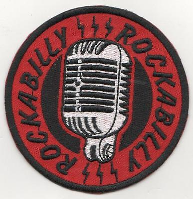 3 Inch Rockabilly Microphone    Iron On  Patch Buy 2 Get 1 Free