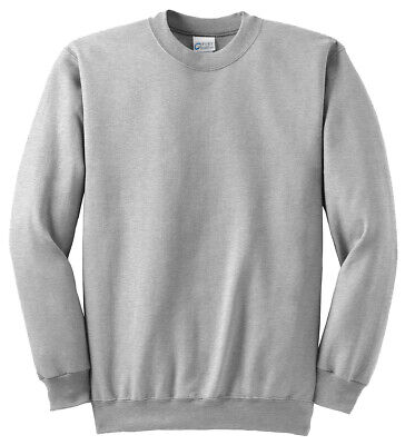 Port & Company Men's Big & Tall Fleece Crewneck Winter Sweatshirt. PC90T