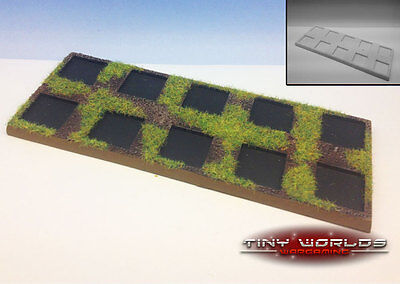 Wargames Skirmish Movement Tray 10-man 5 x 2 Unit 20mm Base Skirmishers