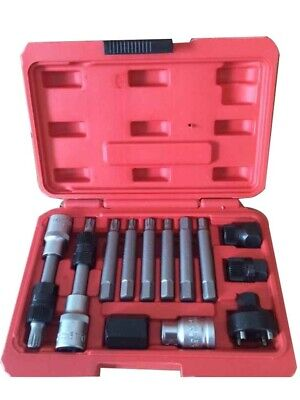 COFFRET OUTILS DEMONTAGE EMBOUTS POULIE ALTERNATEUR DEBRAYABLE TORX BTR 13pcs