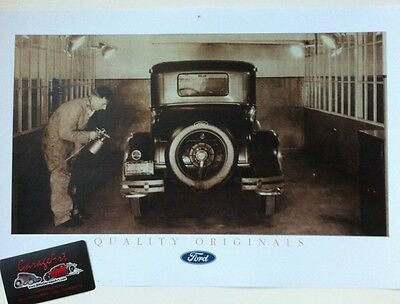 """1930's Ford Paint Booth Reprint 11x17"""" Photo Garage Decor"""