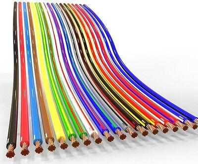 AUPROTEC 10m automotive 1.0 mm² thinwall electrical auto cable wire 31 colours