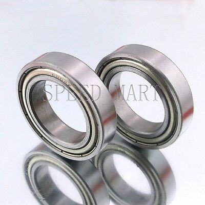 2PCS 6807ZZ Deep Groove Metal Double Shielded Ball Bearing (35mm*47mm*7mm)