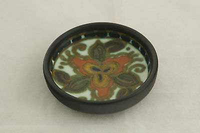 STUNNING & RARE VINTAGE HAND PAINTED GOUDA OPEN SALT CELLAR DIP DISH MARKED
