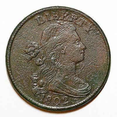1802 S-234 R-3 Draped Bust Large Cent Coin 1c