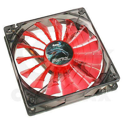 Ventola Aerocool Shark Fan Devil Red Edition 12Cm 120 Mm Case Cabinet Pc Led Red