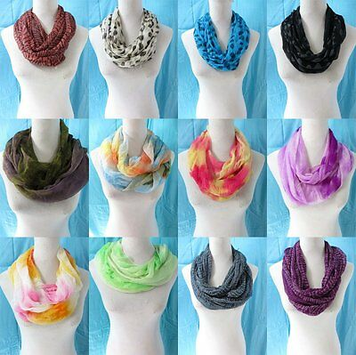 *US Seller* lot of 5 wholesale womens scarves infinity circle loop eternity