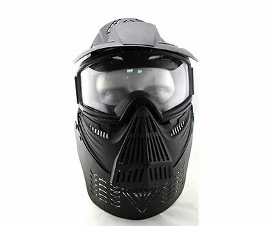 Airsoft Tactical Face Guard Mask with Goggles &Neck Protect for Hunting War Game