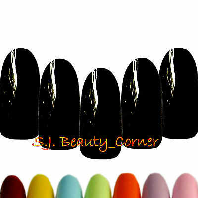 Nails - 20 x Oval Rounded - Long - Full Cover False - 25 Colours - Glue - New