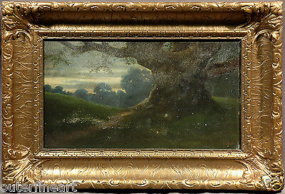 Brabizon School 19th Century Signed Landscape Oil Painting (Possibly French)