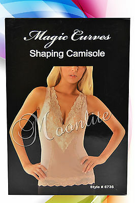 Shaping Camisole Magic Curves S M L XL 2XL Black Beige Light Slim and Shape Top