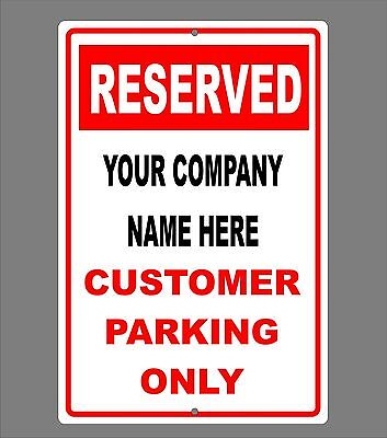 Reserved Parking Customers Only Sign Aluminum Personalized Custom Parking Sign 1