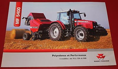 Massey Ferguson MF 5400 Tracteur - Catalogue / Brochure -